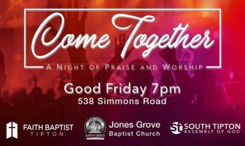 Join us at 7pm, April 19 for a community worship service